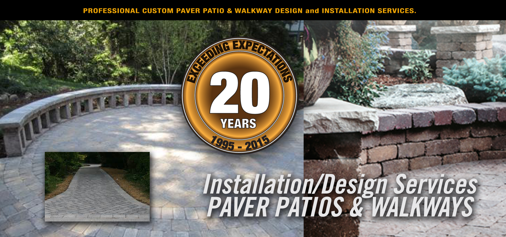 We install stamped concrete